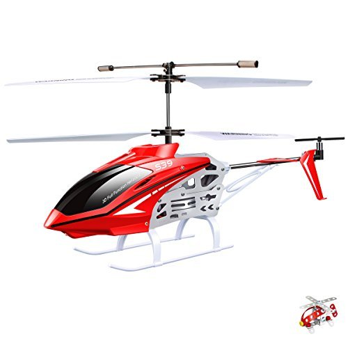 Original Syma S39 RC Helicopter with GYRO Toy Remote Control Helicopters 2 4G 3CH-Redの商品画像
