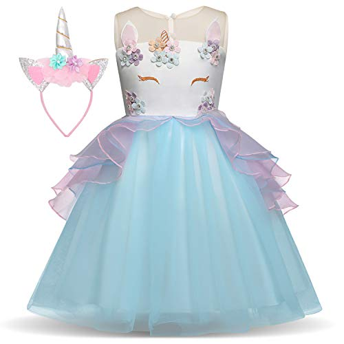 Unicorn Costume for Girls Dress Up Clothes for Little Girls Rainbow Unicorn Tutu with Headband Birthday Gift (Best Dress Up Clothes)