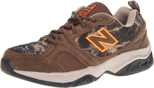 New Balance Men's MX623 Training Tennis Shoe,Brown/Orange,11.5 4E US