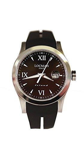 LOCMAN watch ISLAND 0614A01-00BKWHSK Men's