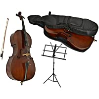Sotendo 3/4 Size Student Cello with Music Stand & Soft Case
