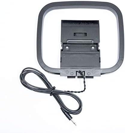 BZ Am Loop Antena con Cable blindado de Cola con 2.5 niquelado Mono estéreo Cabeza para Interior recepción señal Radio