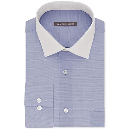 Geoffrey Beene Men's Classic-Fit Wrinkle Free Aloe Wash Dress Shirt Lapis 14 1/2 32-33