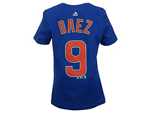 - Majestic Javy Baez Chicago Cubs Youth Blue Name and Number Player T-Shirt Small 8