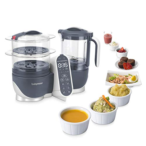 41nbl3I7mrL - Duo Meal Station Food Maker 6 In 1 Food Processor With Steam Cooker, Multi-Speed Blender, Baby Purees, Warmer, Defroster, Sterilizer (Nutritionist Approved)