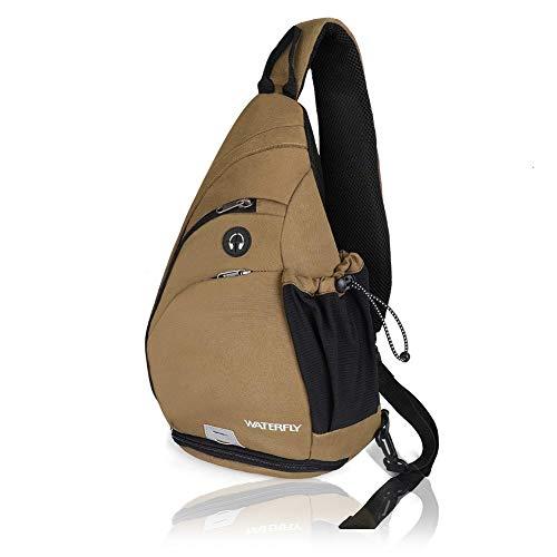WATERFLY Sling Backpack, Sling Bag Small Crossbody Daypack C