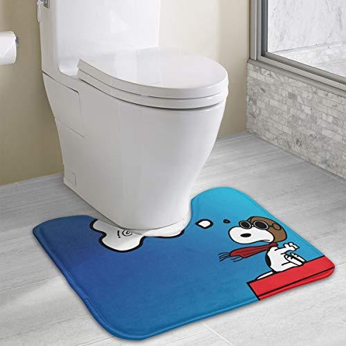 Contour Bath Rug Surprise Snoopy U-Shaped Toilet Floor Rug Shower Mat Non Slip Bathroom Carpet 19.3