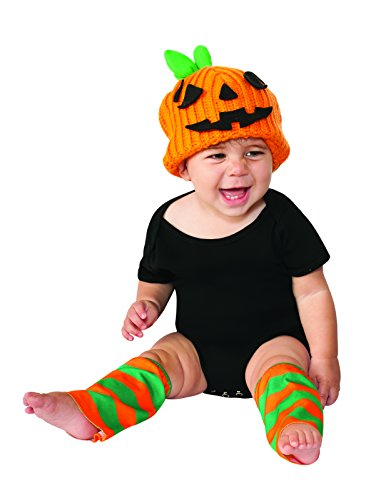 Rubies Pumpkin Infant Halloween Costume (Rubie's Costume Co Baby's Pumpkin Costume Kit, Orange, 6-12 Months)