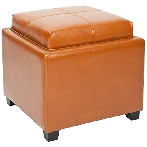Safavieh Harrison Collection Harrison Saddle Single Tray Ottoman
