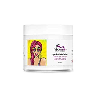 FACEME 2.5% Retinol Cream, Anti-Aging + Youth Promoting, Antioxidants & Botanicals- Hydrate, Renew, Smooth, Firm, Tone, Boost Collagen. Retinol, Aloe Vera, Hyaluronic Acid, Green Tea & more! 2fl oz.