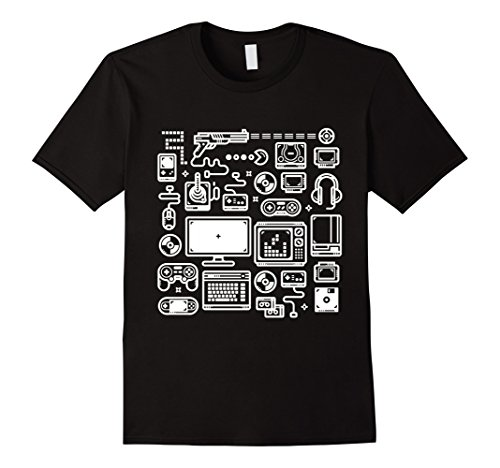 Men's Video Game T-Shirt: 8-bit Retro Gaming Accessories