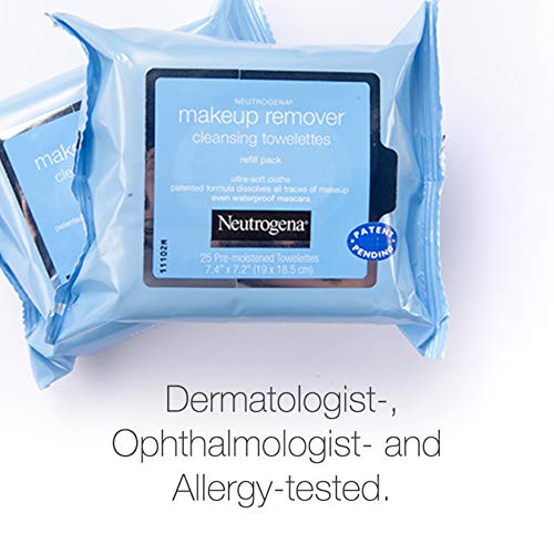 Neutrogena Makeup Remover Cleansing Face Wipes, Daily Cleansing Facial Towelettes to Remove Waterproof Makeup and…