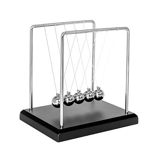 Toys for Desk, Newtons Cradle Magnetic Balls for Adults Stress Relief, Cool Fun Office Games Desktop Accessories,Calm Down Fidgets Kit Avoid Anxiety, Small Sensory Kids Toy, Gifts for Boys With Autism ()