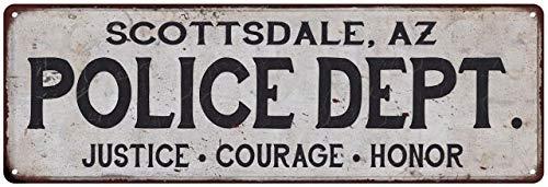 Scottsdale, AZ Police DEPT. Home Decor Metal Sign Gift 6 x 18 High Gloss Metal 206180012083 (Furniture Scottsdale Az)