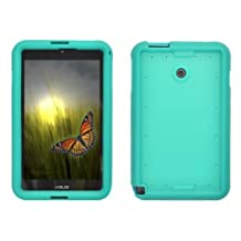 Bobj Rugged Case for ASUS VivoTab Note 8 M80TA - BobjGear Protective Tablet Cover - (Terrific Turquoise)
