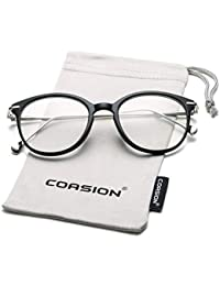 cee6f94f89 Vintage Round Clear Glasses Non-Prescription Eyeglasses Frames for Women Men