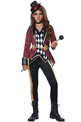 California Costumes Circus, Big Tent, Evil Ringmaster Girls Costume, Multicolor, Medium