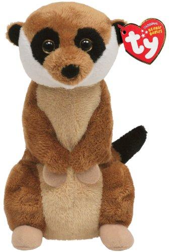 Stuffed Meerkat (Ty Beanie Baby Burrows Meerkat)