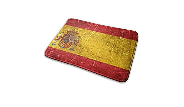 Garlincao - Felpudo con diseño de bandera de España envejecida y rayada: Amazon.es: Hogar