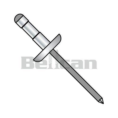 Bellcan BC-D-0613B Multi Grip Dome Head Rivet Black Phosphate 3/16 X .062-.250 (Box of 5000)