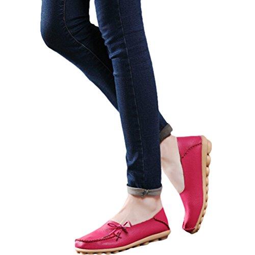 1 Col Rosa Donna Basso Casuali Stile Espadrillas Tacco Rosso Comfort Pompe Vogstyle Scarpe Piatto Scarpe EOnq7x7