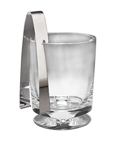 Nambe Groove Ice Bucket with Tongs by Nambé