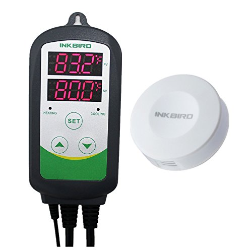 Inkbird Combo Mini Bluetooth Temp/RH Monitor Smart Sensor Data Logger Recorder Wireless + Temperature Humidity Controller Thermostat Hygrostat Thermometer Hygrometer (IBS-TH1 Mini + ITC-308)