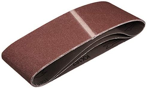 - 4 inch x 24 inch aluminum oxide sand belts and 100 sanding grains for 3 piece belt sanders