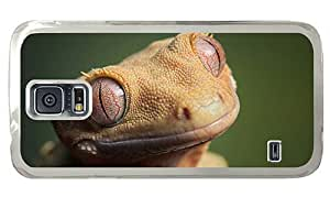 Hipster spec Samsung Galaxy S5 Case gecko PC Transparent for Samsung S5