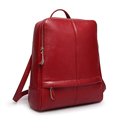 da donna Zipper Zaino NerocoloreneroVino viaggio impermeabile modello Casual per Litchi Shopping Pu Houyazhan rosso nwOPk0X8