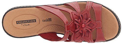 Venna Women's Leather Platform CLARKS Delana Red 0Ew1qwxU