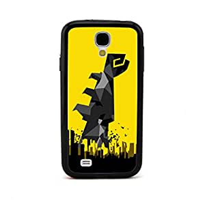 ecenter - diseño en relieve patrón puño súper héroeOrdenanza Batman negro Bumper plastique + cas de TPU couverture for Samsung Galaxy S4 SIV i9500 Teléfono Móvil