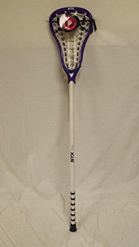 STX Lacrosse Women's Complete Stick, White Vortex Stick with Purple NTrance Head – DiZiSports Store