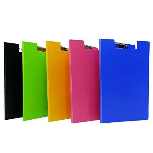New Assorted Clip Board File A4 Size Paper Document Folder Organizer Office Supplies Pack of 5 for sale