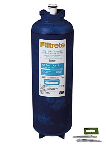 Filtrete Whole House Quick Change Water Replacement Filter, 12 Month Filter, Reduces 3 Micron Sediment and Chlorine Taste & Odor Reduction (4WH-QCTO-F01)