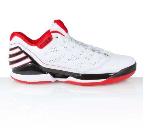 Adidas - Rose 25 Low - Coleur: Bianco-Nero-Rosso - Taille: 50.6