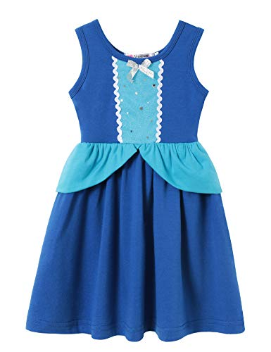 Cotton Baby Girl Clothes Summer Little Princess Toddler Kids Party Tutu Dresses (C8 Size 3) -