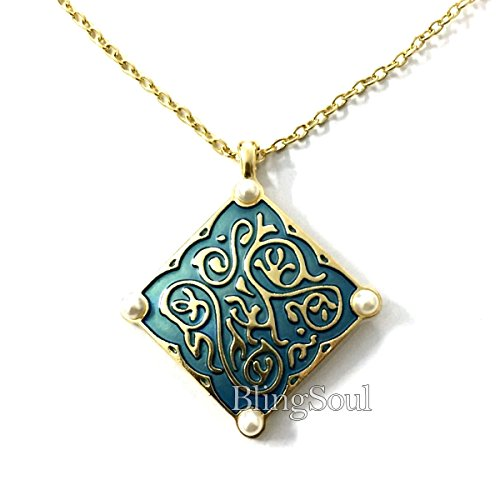 BlingSoul Medallion Tress Merigold Necklace Witcher Costume Cosplay (Replacement Urn Lid)