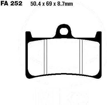 2SC9 2015 Bremsbelag vorne EBC Sinter HH Bj FA252HH f/ür Yamaha MT-09 850 TR A Tracer ABS RN29F
