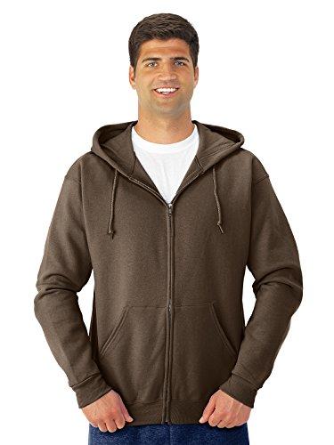 Jerzees mens 8 oz. 50/50 NuBlend Fleece Full-Zip Hood(993)-CHOCOLATE-3XL