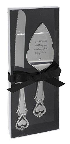 Ganz Wedding Dining Stainless Steel Cake Knife Server Set