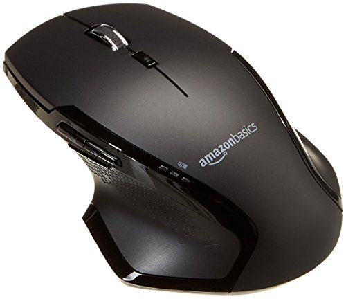 AmazonBasics Full-Size Ergonomic Wireless PC Mouse with Fast Scrolling ()
