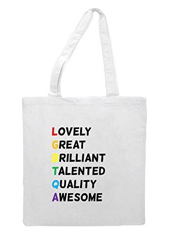 Lgbtqa Out White Spell Bag Rainbow Tote It Shopper wpRAwzqSU