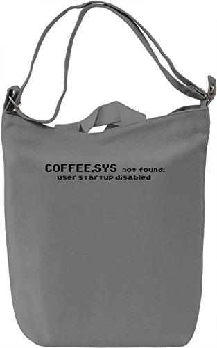 Coffee.sys not found Borsa Giornaliera Canvas Canvas Day Bag| 100% Premium Cotton Canvas| DTG Printing|