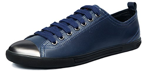 OPP - Zapatos de cordones de Piel para hombre Azul