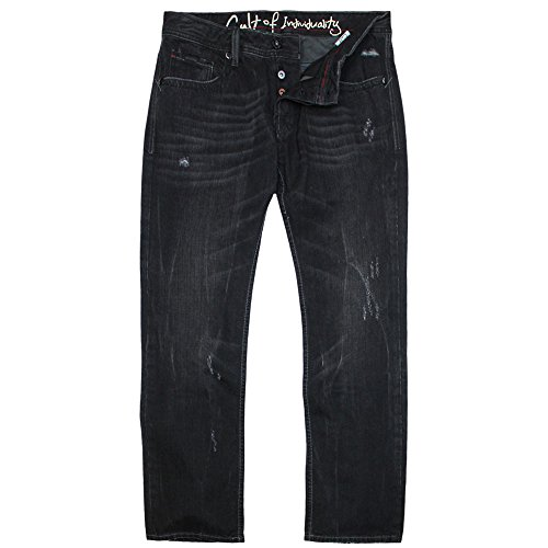 Cult of Individuality Hagen Straight Leg Jeans Iron by Cult Of Individuality Denim