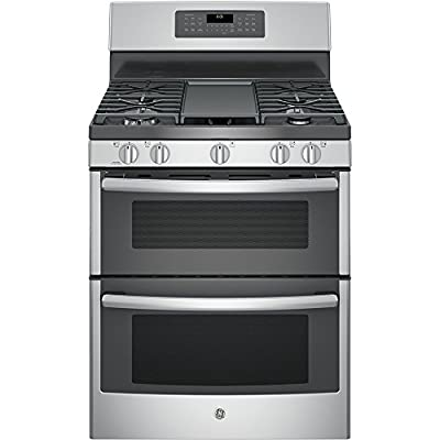 "GE JGB860SEJSS 30"" Stainless Steel Gas Sealed Burner Double Oven Range - Convection"