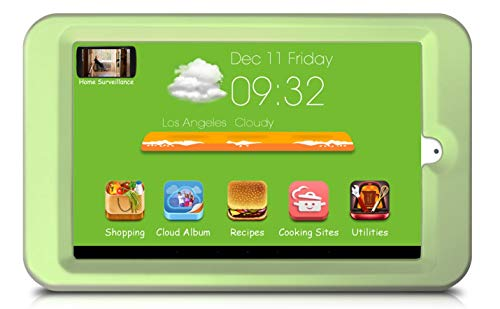 "Price comparison product image Kitchen Display,  8"" HD IPS screen,  Refrigerator Stuck Design,  Pre-installed Recipes,  Top Cooking Sites,  Cloud Album,  Kitchen Entertainment – Netflix Movies & TV,  Internet Radio & Music,  Online Grocery"