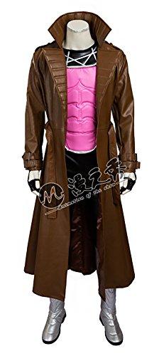 Mtxc Men's X-Men Cosplay Costume Gambit Full Set Size Large Brown