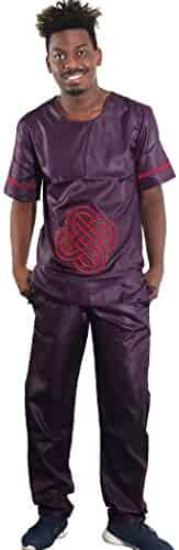 d7483495e0d05a H D African Couples Clothes Embroidery Pattern Top Shirt and Pants Sets for  Men   Women